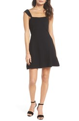 Ali And Jay Night At The Improv Ponte Fit Flare Minidress Black