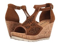 Minnetonka Ellis Dusty Brown Suede Women's Wedge Shoes