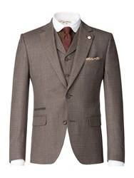 Gibson Men's Taupe Brushed Check Jacket Taupe
