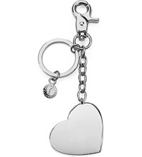 Aspinal Of London Silver Plated Heart Keyring
