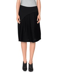 Malloni Skirts Knee Length Skirts Women Black