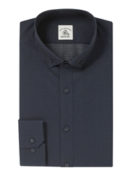 Paul Costelloe Pindot Slim Fit Shirt Navy