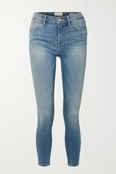 Frame Le High Mid Rise Skinny Jeans Blue