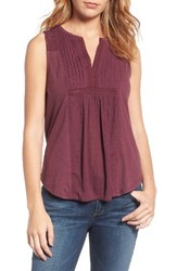 Lucky Brand Women's Lace Trim Tank Fig