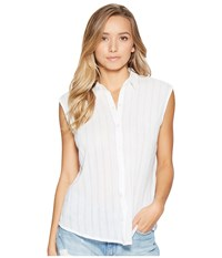 Obey Isle Shirt White Women's Short Sleeve Button Up