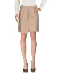Cacharel Knee Length Skirts Beige