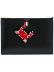 Thom Browne Embroidered Crab Clutch Black