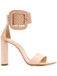 Casadei Statement Ankle Buckle Sandals Nude And Neutrals