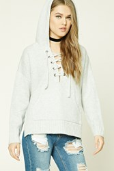 Forever 21 Lace Up Hoodie