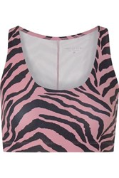 Year Of Ours Jab Tiger Print Stretch Sports Bra Pink