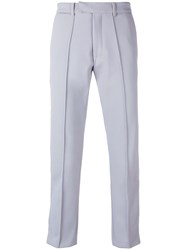 Gcds Cropped Classic Tailored Trousers Grey