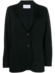 Harris Wharf London Long Sleeve Knitted Blazer Black