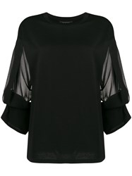 Dkny Cropped Sheer Sleeved Top 60