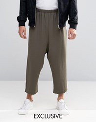 Reclaimed Vintage Relaxed Culottes Khaki Green