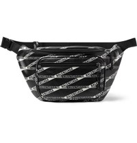 Balenciaga Explorer Printed Leather Belt Bag Black