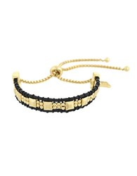 Laundry By Shelli Segal Pacific Highway Bead Wrap Brass Slider Bracelet Gold