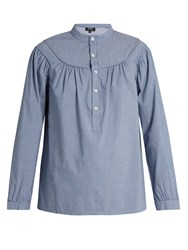 A.P.C. Ingalls Striped Cotton Shirt Blue