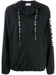 Red Valentino Zip Up Hooded Jacket Black