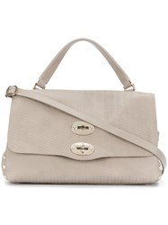 Zanellato Small Postina Tote Leather Grey