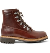 Grenson Justin Panelled Leather Boots Brown