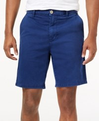 American Rag Men's Stretch Twill Shorts Only At Macy's Medieval Blue