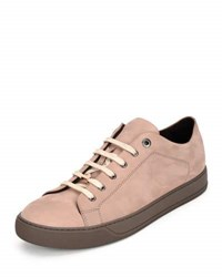 Lanvin Suede Low Top Sneaker Powder Beige
