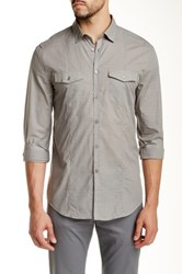 John Varvatos Military Inspired Plaid Trim Fit Shirt Green