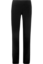 Narciso Rodriguez Stretch Wool Straight Leg Pants Black