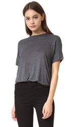 Vince Cuffed Sleeve Cocoon Tee H. Charcoal
