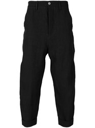 Andrea Ya'aqov Cropped Loose Fit Trousers Black