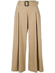 Etro Cropped Wide Leg Trousers Nude And Neutrals