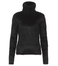 Saint Laurent Mohair And Wool Blend Turtleneck Sweater Black