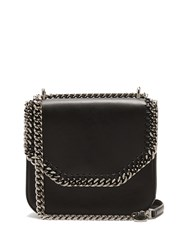 Stella Mccartney Falabella Mini Faux Leather Shoulder Box Bag Black