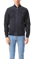 Obey Clifton Suede Jacket Navy