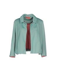 Manila Grace Denim Suits And Jackets Blazers Women Light Green