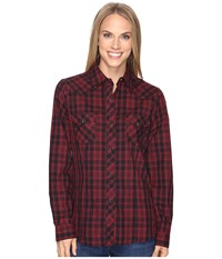 Roper 0693 Black Red Plaid Red Women's Clothing