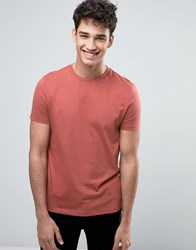Asos T Shirt In Red With Crew Neck Masala