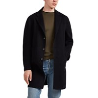 Barneys New York Double Faced Cashmere Coat Navy