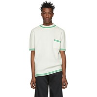 Telfar White Knit Polo