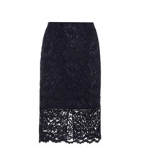 Polo Ralph Lauren Lace Pencil Skirt Blue