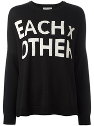 Each X Other Logo Print Sweatshirt Black