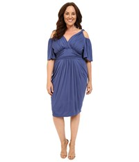 Kiyonna Tantalizing Twist Dress Vintage Blue Women's Dress