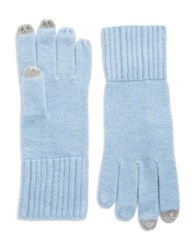 Lord And Taylor Cashmere Tech Gloves Blue