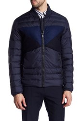 Antony Morato Quilted Contrast Panel Jacket Blue