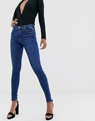 Replay Stella Super Skinny Jeans With Power Stretch Clear