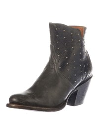 Lucchese Harley Studded Western Booties Black