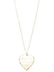 In God We Trust Brass 'Sweet Nothing Kiss Me Where I Pee' Necklace Metallic
