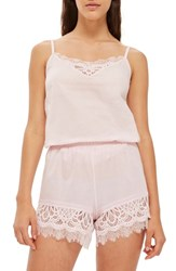 Topshop Lydia Lace Camisole Light Pink