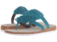 Hush Puppies Bryson Jade Turquoise Suede Women's Sandals Blue