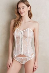 Anthropologie Salua Lace Up Corset White L Wedges